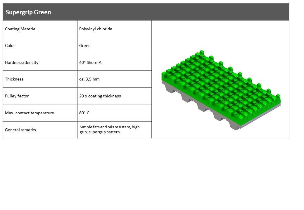 PVC Supergrip Grøn belægning