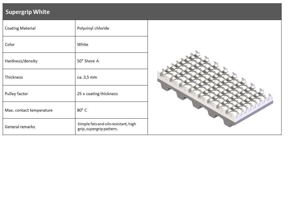 PVC Supergrip Hvid belægning