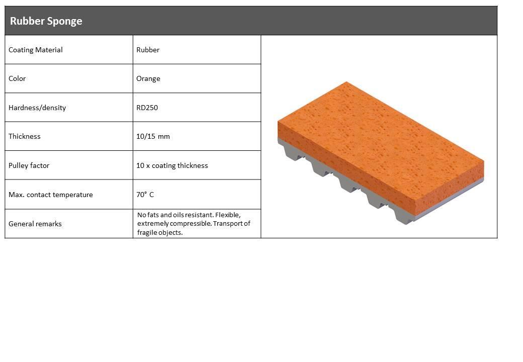 Orange skumgummi belægning RG250